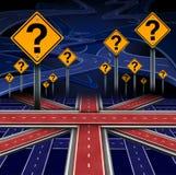Britische europäische Frage Stockbild