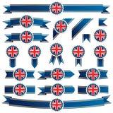 Britische Farbbänder Lizenzfreie Stockfotografie