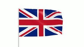 Britische Flagge stock footage