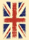 Britische Flagge in der Schmutzart auf beige Hintergrund stockbilder