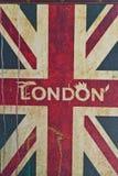 BRITISCHE Flagge mit London in der Thmitte Lizenzfreie Stockfotos