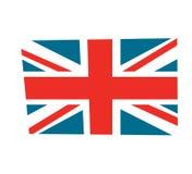 Britische Flaggenvektor Illustration, Karikaturart lizenzfreie stockbilder