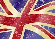 Britische grunge Markierungsfahne Stockfoto