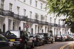 Britische Häuser Stockfotografie