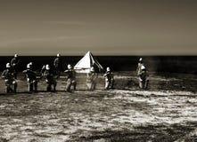 Britische Infanterie von der viktorianischen Ära stockbilder