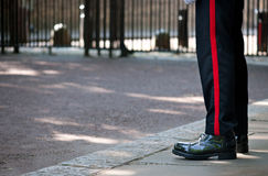 Britische königliche Abdeckung, London, Großbritannien Stockbild