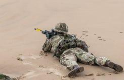 Britische königliche Marine Kommando Lizenzfreie Stockfotos