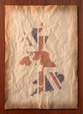 BRITISCHE Karte der Weinlese auf Papierfertigkeit Lizenzfreie Stockfotografie