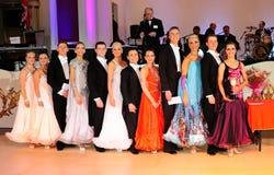 Britische laienhafte moderne Reihenfolgen-Tanz-Meisterschaft stockbild