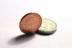 BRITISCHE Münzen Lizenzfreie Stockbilder