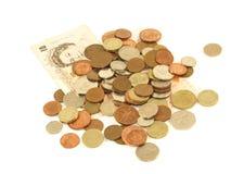 Britische Münzen. Stockfotografie