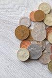 Britische Münzen Lizenzfreies Stockfoto