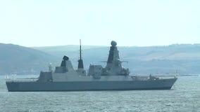 Britische Marine-verwegenes Klassen-Zerstörer-Kriegsschiff stock video footage