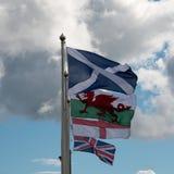 BRITISCHE Markierungsfahnen Lizenzfreies Stockbild