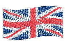BRITISCHE Markierungsfahnenkunst Stockbild