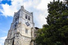 Britische Markstein-Kirche von Waltham Abbey Town stockfotografie