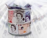 Britische Pfunde Anmerkungen Stockbilder