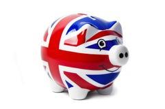 Britische Piggy Querneigung Lizenzfreie Stockfotos