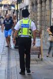 Britische Polizei bemannt Stockfotografie