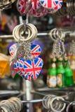 BRITISCHE Schlüsselringandenken Stockfotos