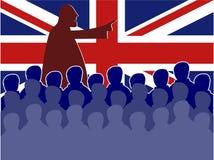 Britische Sitzung stock abbildung