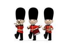 Britische Soldaten auf Weiß, Illustration 3D Stockfoto