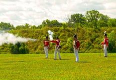 Britische Soldaten im Fort George Lizenzfreie Stockfotografie