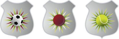BRITISCHE Sport-Embleme Stockfotos