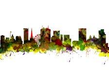 BRITISCHE Stadt-Skyline Birminghams Stockfotografie