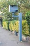 BRITISCHE statische Geschwindigkeitskamera Lizenzfreie Stockfotos