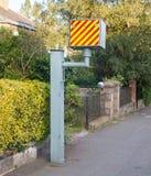 BRITISCHE statische Geschwindigkeitskamera Stockfotografie