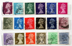 BRITISCHE Stempel Lizenzfreie Stockbilder