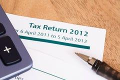 BRITISCHE Steuererklärung 2012 Lizenzfreie Stockfotos