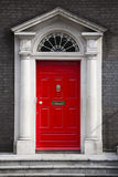 Britische traditionelle Tür Lizenzfreies Stockfoto