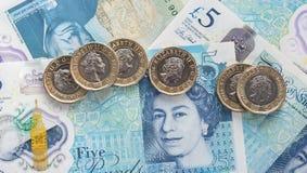 Britische Währung 2017 Lizenzfreies Stockbild