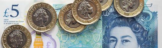 Britische Währung 2017 Lizenzfreies Stockfoto