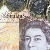 Britische Währung - neues Polymer zehn Pfund-Anmerkung Lizenzfreie Stockbilder