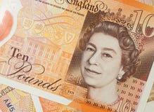 BRITISCHE zehn Pfund-Anmerkung lizenzfreie stockfotografie