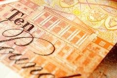 BRITISCHE zehn Pfund-Anmerkung lizenzfreie stockfotos