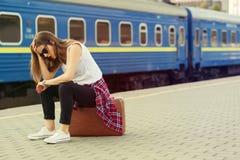 Britischer Bahnhof Lizenzfreie Stockbilder