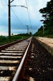 Britischer Bahnhof Lizenzfreie Stockfotos