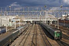 Britischer Bahnhof Lizenzfreie Stockfotografie