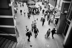 Britischer Bahnhof Künstlerischer Blick in Schwarzweiss Lizenzfreie Stockfotografie