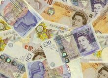 BRITISCHER Bargeld-Hintergrund Stockbild