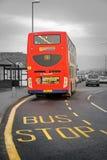 Britischer Doppeldeckerbus Stockfotos