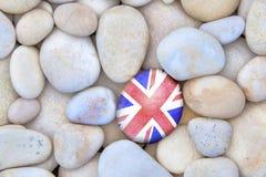 BRITISCHER Flaggen-Kiesel Stockfoto