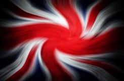 Britischer Flaggenzoomeffekt Stockfotos