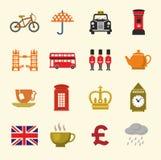 Britischer Ikonensatz Stockbilder