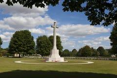 Britischer Kirchhof des zweiten Weltkriegs, Bayeux lizenzfreies stockbild