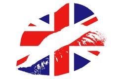 BRITISCHER Kuss Stockbild